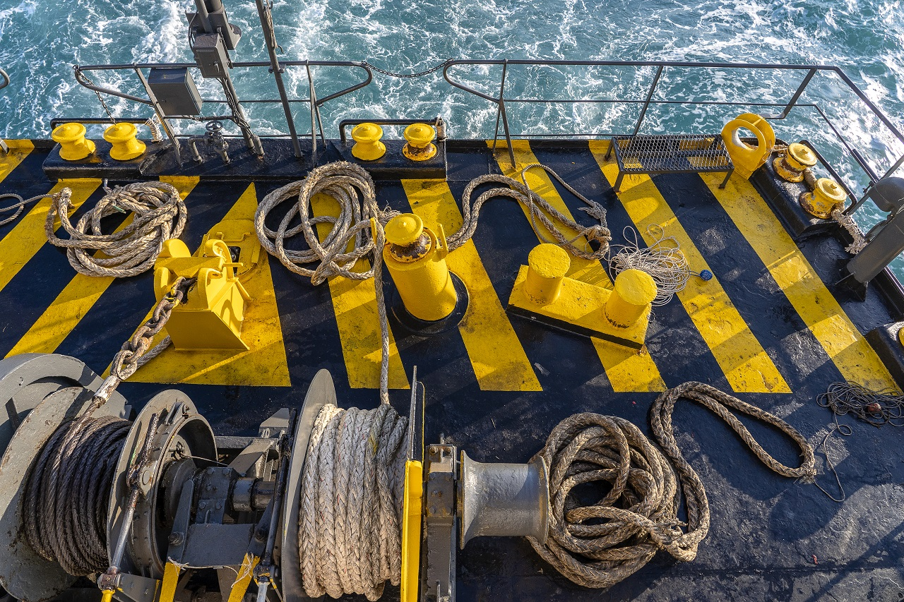 winch for marine applications